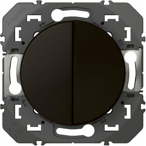 Interrupteur ou va-et-vient 10A + Bouton Poussoir 6A Dooxie - Noir - Legrand