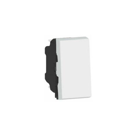 Interrupteur ou va-et-vient 10AX 250V~ Easy-Led Mosaic - 1 module - Blanc - 077001L - Legrand