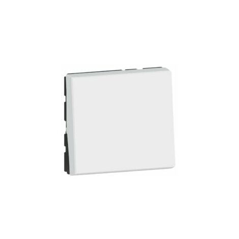 Interrupteur ou va-et-vient 10AX 250V~ Easy-Led Mosaic - 2 modules - Blanc - 077011L - Legrand