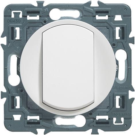 Interrupteur ou va-et-vient doigt large Céliane Soft - 10A - Blanc