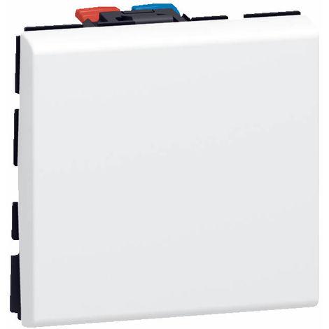 Interrupteur ou va-et-vient Mosaic - Blanc - 2 modules