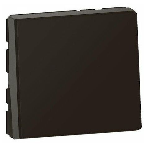Interrupteur ou va-et-vient Mosaic Easy Led - 2 modules - 10AX - Noir mat