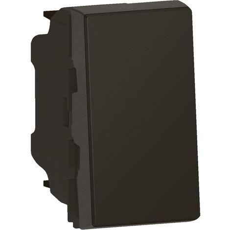 Interrupteur ou va-et-vient Mosaic Easy LED composable - 1 module - Noir - Legrand