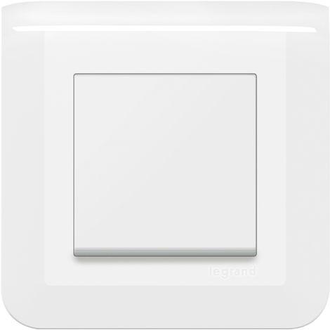 Interrupteur ou va-et-vient Mosaic simple - Complet - Avec griffes - Blanc - Legrand