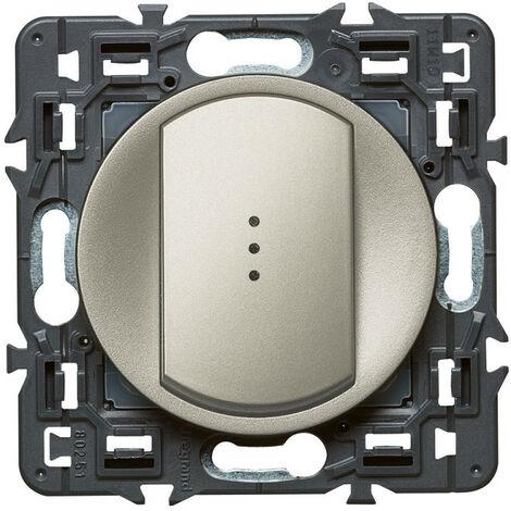 Interrupteur ou va-et-vient témoin Céliane Soft 10A Titane (099513)