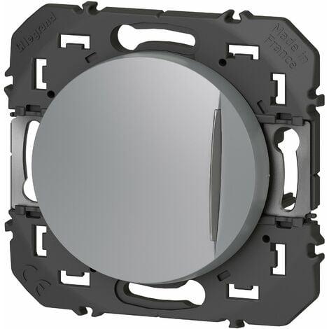 Interrupteur ou va-et-vient - Voyant lumineux Dooxie - Aluminium - Legrand