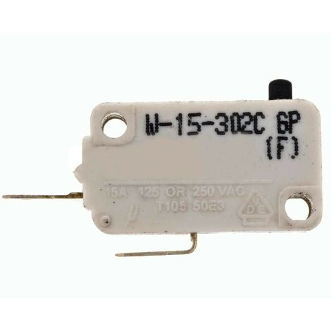 Interrupteur Porte Micro-Ondes Standard 15Ampères Sans Levier
