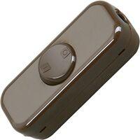 Interrupteur pour câble souple Kopp 193606003 marron 1 x Off/On 10 A 1 pc(s)