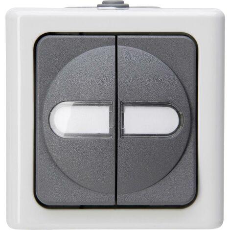 Interrupteur pour gamme Kopp 560556003 BlueElectric gris