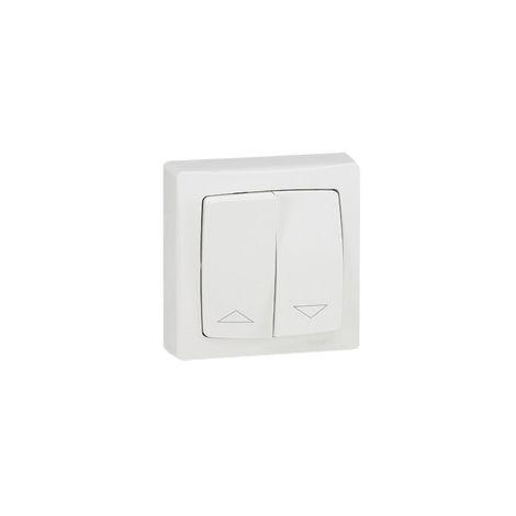 Interrupteur pour volets roulants appareillage saillie complet - blanc