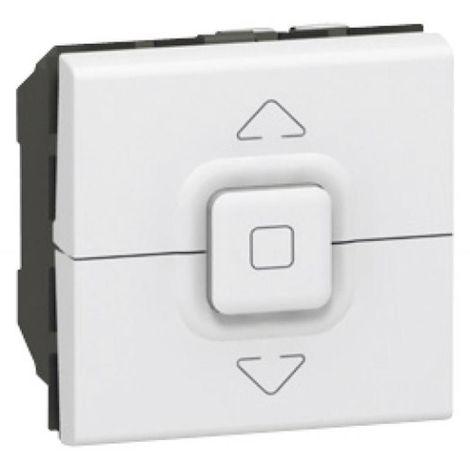 Interrupteur pour volets roulants programme Mosaic 2 modules blanc