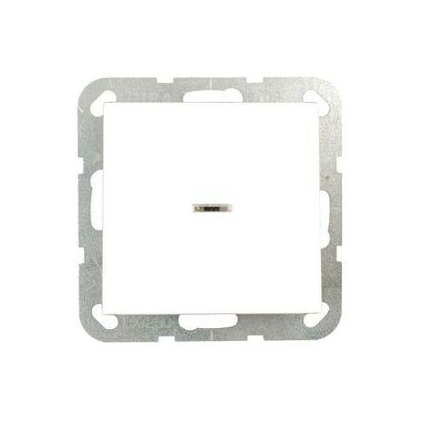 """main image of """"Interrupteur-poussoir va-et-vient voyant, System 55 blanc pur brillant"""""""