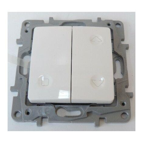 Interrupteur radio (émetteur) sans fil pour volet roulant blanc à pile 3V CR2032 sans plaque MyHome Play NILOE LEGRAND 665110