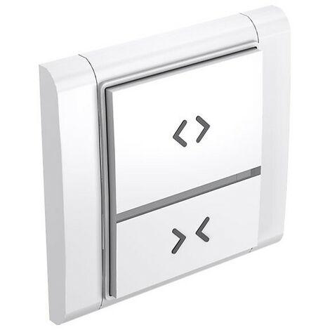Interrupteur radio programmable 2 poussoirs pour portes et volets - Blanc