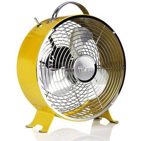 Interrupteur rétro pour ventilateur sur socle Poignée de ventilation pour refroidisseur d'air à 2 étages Tristar VE-5964 jaune