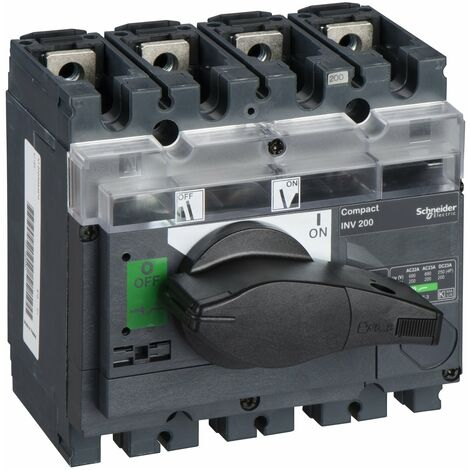 interrupteur sectionneur à coupure visible Interpact INV200 4P 200 A - 31163