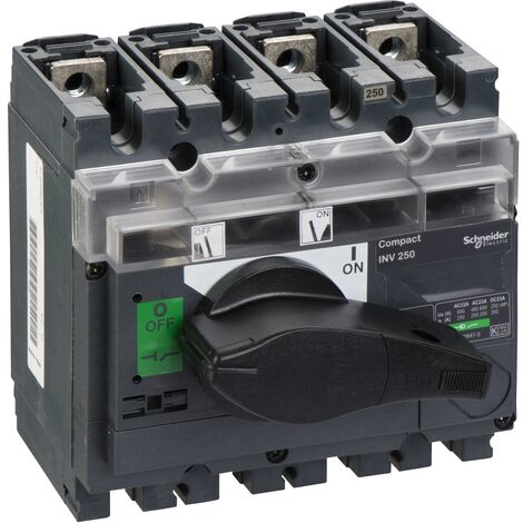 interrupteur sectionneur à coupure visible Interpact INV250 4P 250 A - 31167