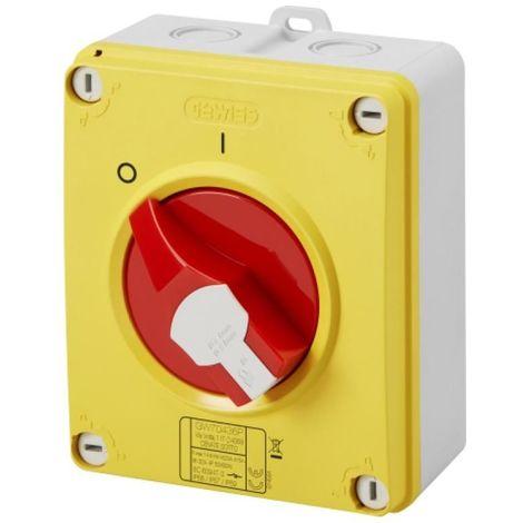 interrupteur / sectionneur d'urgence cadenassable - Gewiss