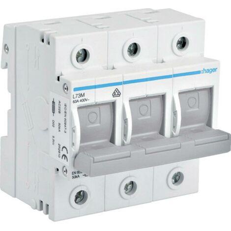 Interrupteur-sectionneur Hager L73M L73M Taille du fusible: D02 3 pôles 63 A 1 pc(s)