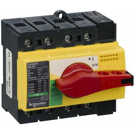 interrupteur sectionneur Interpact INS80 4P 80 A - 28921