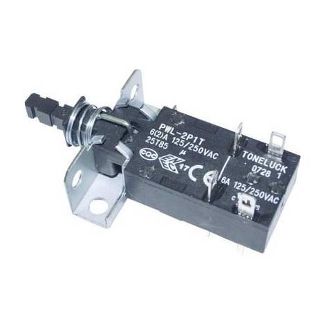 Interrupteur sectionneur, Interrupteur à pression PWL-2P1TL-6SASHA PWL-2P1TL-6SASHA 250 V/AC 6 A 2 x Off/On à accrochage 1 pc(s)