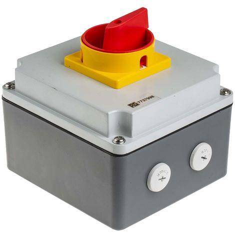 Interrupteur sectionneur tétrapolaire, 25 A, 11 kW