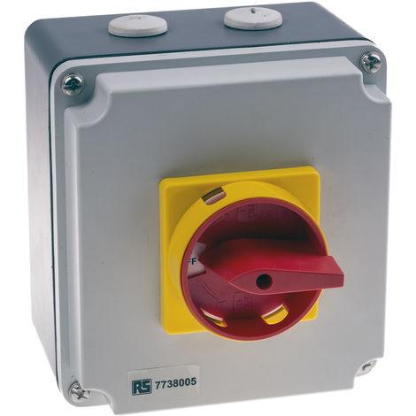 Interrupteur sectionneur tétrapolaire, 40 A, 18,5 kW
