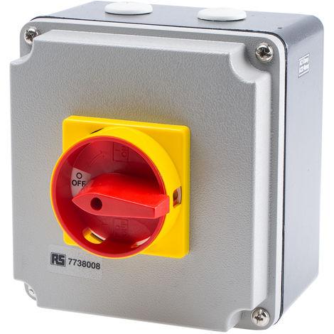 Interrupteur sectionneur tétrapolaire, 63 A, 30 kW