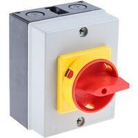 Interrupteur sectionneur tripolaire, 20 A, 11 kW