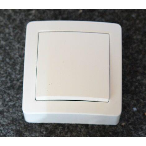 "main image of ""Interrupteur simple allumage blanc saillie complet ALREA SCHNEIDER ALB62050"""