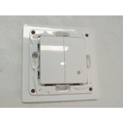 Interrupteur simple radio (émetteur) blanc pur sans fil radio/zigbee à pile 3V (fournie) Niloe LEGRAND 665101
