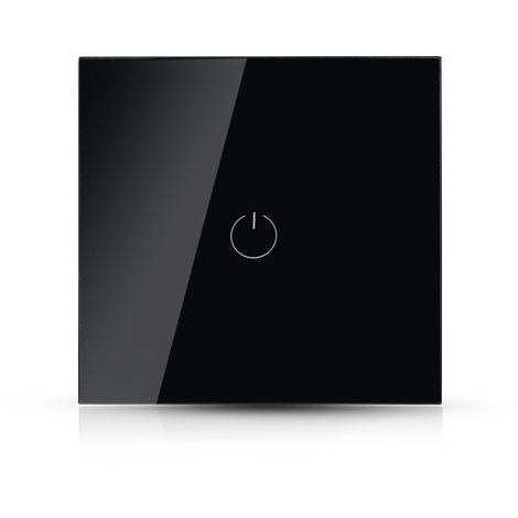 Interrupteur tactile V-tac Smarthome VT-5003 Installation WiFi - 1 bouton - noir - Fonctionne avec Amazon Alexa et Google Home Assistant