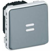 Interrupteur temporisé lumineux Plexo composable IP55 - Gris - Legrand