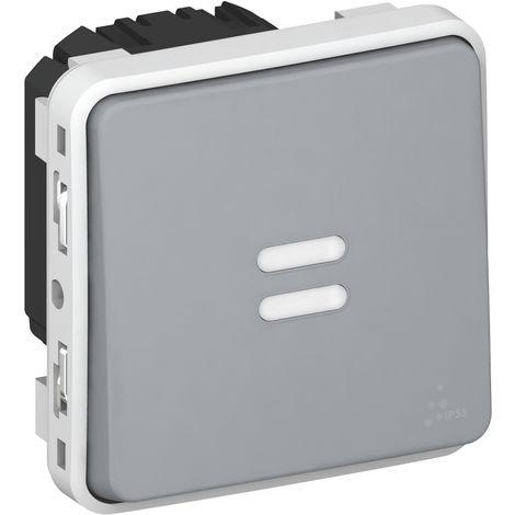 Interrupteur temporisé lumineux Plexo Gris (069937)