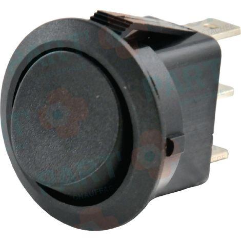 Interrupteur unipolaire Ø 23 noir Réf. 87168249030