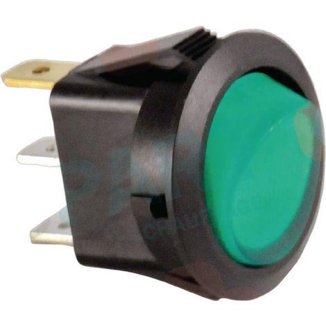 Interrupteur unipolaire Ø 23 vert Réf. 87168249040