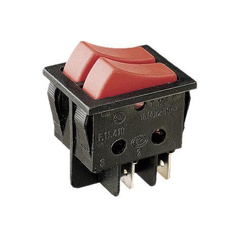 """main image of """"Interrupteur unipolaire à double clé Corps noir Clé verte Electro DH Couleur Noir 11.410.ILL/NVV 8430552120840"""""""