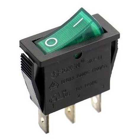 "main image of ""Interrupteur unipolaire lumineux vert 16A 250V Standard"""
