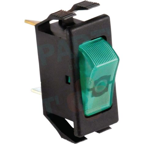 Interrupteur unipolaire Noir/Vert Réf. 87168121620