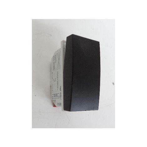 Interrupteur va-et-vient 10A 1 module noir format 45X22.5mm sans support ni plaque Systo HAGER WS012N