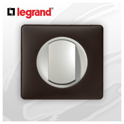interrupteur Va-et-vient complet Legrand Celiane Basalte Poudré (doigt large)
