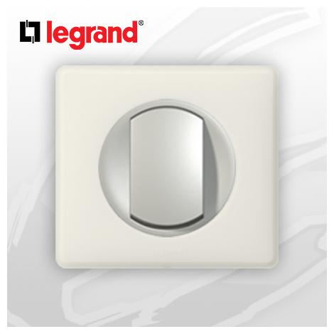 interrupteur Va-et-vient complet Legrand Celiane Craie Poudré (doigt large)