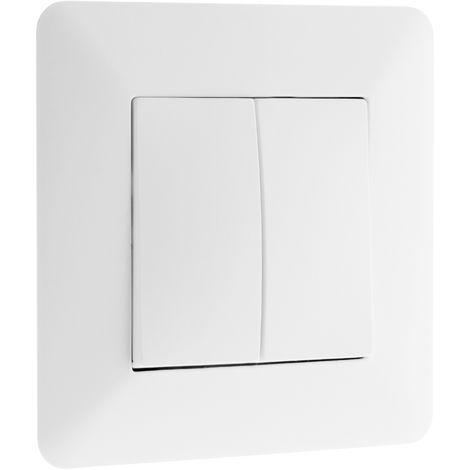 """main image of """"Interrupteur va-et-vient double 10A Blanc - Artezo"""""""