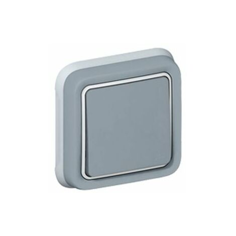 Interrupteur Va et Vient Legrand Plexo Gris Encastré IP55 10 AX - 250 V