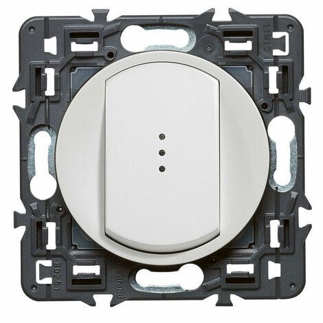Interrupteur-va-et vient lumineux Céliane Soft 10A Blanc (099502)