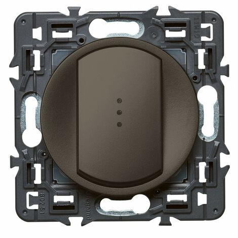 Interrupteur-va-et vient lumineux Céliane Soft 10A Graphite (099522)