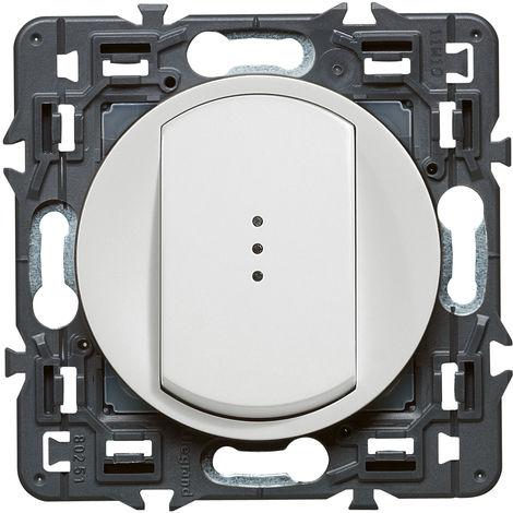 Interrupteur/va-et vient lumineux (voyant fourni) Céliane Soft - 10A - Blanc