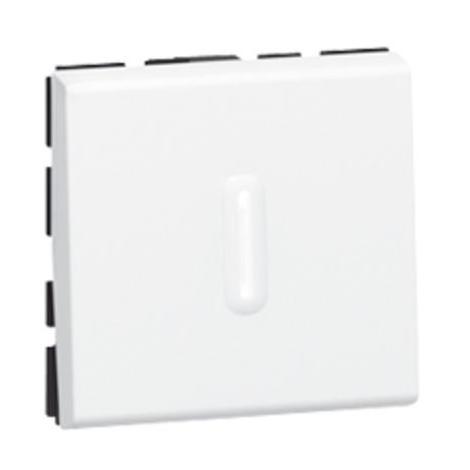 Interrupteur va-et-vient Mosaic à voyant 10AX 250V 2 modules - Blanc - Legrand