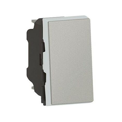 Interrupteur va-et-vient Mosaic Easy-LED - 10 AX - 250V - 1 module - Aluminium