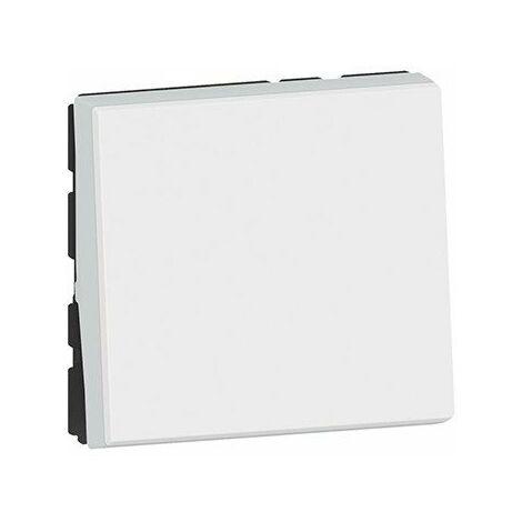 Interrupteur va-et-vient Mosaic Easy-LED - 10 AX - 250V - 2 modules - Blanc antimicrobien